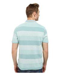 Perry Ellis | Green Textured Stripe Polo for Men | Lyst