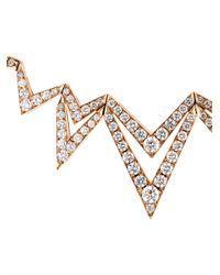 Stephen Webster - Metallic Diamond & Rose-Gold Lady Stardust Necklace - Lyst