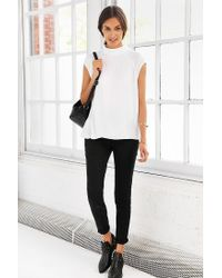 Silence + Noise | White Rory Mock-neck Tank Top | Lyst
