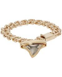 Givenchy | Metallic Gold Shark Tooth Bracelet | Lyst