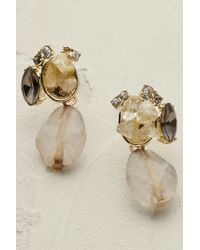 Anthropologie | Natural Glacielle Chandelier Earrings | Lyst