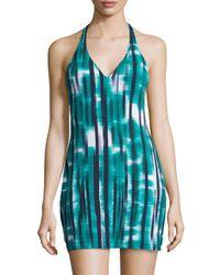 Cosabella - Green Loire Short Slip Dress Nightgown - Lyst