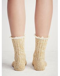 Free People - Yellow Heathered Highland Boot Sock - Lyst
