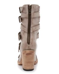 Freebird by Steven | Gray Bond Sandals - Taupe | Lyst