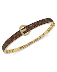 Le Vian | Brown Chocolate Diamond (2-3/4 Ct. T.w.) And White Diamond Accent Bangle In 14k Gold | Lyst
