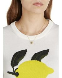 Marc By Marc Jacobs | Metallic Delicate Sweetie Cream Enamel Necklace | Lyst