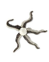 Kenneth Jay Lane | Black Hematite Starfish Brooch | Lyst