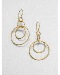 Ippolita | Metallic Glamazon Sculptural Metal 18K Yellow Gold Mini Jet Set Drop Earrings | Lyst