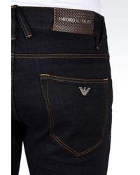 Emporio Armani - Blue Slim Fit Black Wash Jeans for Men - Lyst