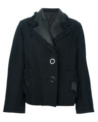 Alexander Wang - Blue Fringe Detail Coat - Lyst