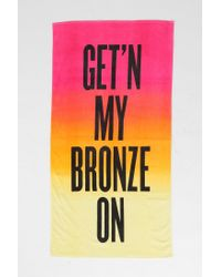 Urban Outfitters - Orange Bronze Beach Towel - Lyst