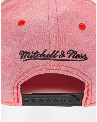 Mitchell & Ness - Red Toronto Raptors Isles Snapback Cap for Men - Lyst