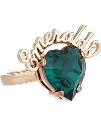 Mawi | Blue Emeralds Crystal Ring - For Women | Lyst