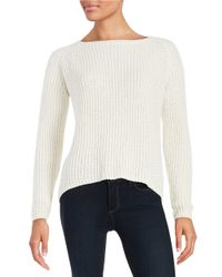 BB Dakota | White Hi-lo Knit Sweater | Lyst