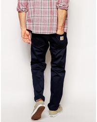 Carhartt - Blue Skill Chino for Men - Lyst