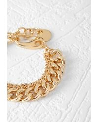 Forever 21 | Metallic Layered Curb Chain Bracelet | Lyst