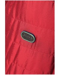BOSS Green | Red Jacket 'jorres' In Quilted Look for Men | Lyst