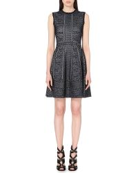 Alexander McQueen | Blue Sleeveless Jacquard-knit Dress | Lyst