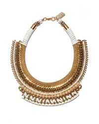 Lizzie Fortunato | Metallic Exclusive Pearl Wheat Field Necklace | Lyst