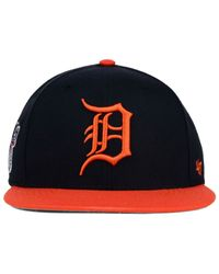 47 Brand - Orange Detroit Tigers Sure Shot Snapback Cap for Men - Lyst