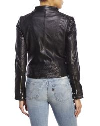 BB Dakota - Black Redding Leather Moto Jacket - Lyst