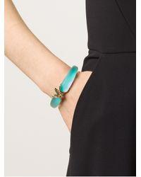 Alexis Bittar - Blue Iridescent Bumble Bee Bracelet - Lyst