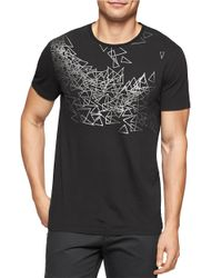Calvin Klein | Black Abstract Print Tee for Men | Lyst