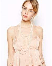 ASOS | Natural Limited Edition Faux Pearl Multi Way Necklace | Lyst