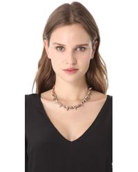Joomi Lim - Pink Luxe Double Spike Choker - Rose Gold/silver - Lyst