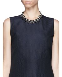 Joomi Lim - Black Spike Pearl Double Strand Necklace - Lyst