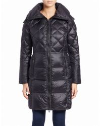 BCBGeneration | Black Quilted Zip-front Coat | Lyst