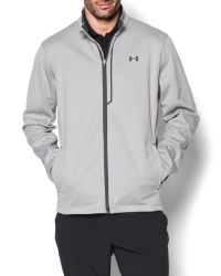 Under Armour - Gray Elemental Plain Half Zip Neck Zip Fastening Cardi for Men - Lyst