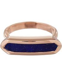 Monica Vinader | Blue Rose Gold Vermeil Lapis Lazuli Baja Ring | Lyst