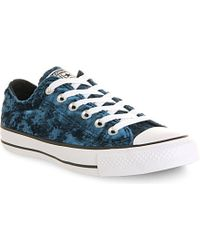 Converse Blue All Star Velvet Low Trainers - For Women