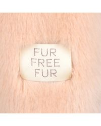 Stella McCartney - Pink Fur Free Fur Dan Coat - Lyst