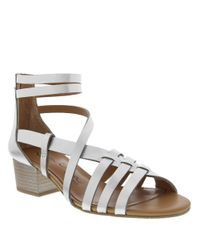 Nina - Metallic Victor Synthetic Leather Sandals - Lyst