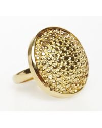 Rachael Ruddick | Metallic Stingray Button Ring (S) | Lyst