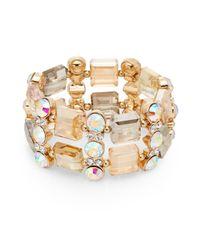Saks Fifth Avenue | Metallic Mixed Stone Two-row Bracelet/goldtone | Lyst