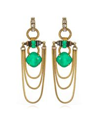 Erickson Beamon | Green Safari Earrings in Emerald | Lyst