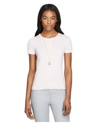 Brooks Brothers - Natural Short-sleeve Cashmere Shell - Lyst