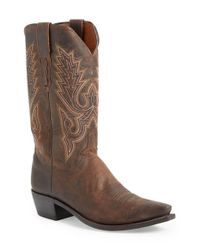 Lucchese - Brown 'madras' Western Boot for Men - Lyst