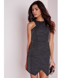 Missguided - Multicolor Racer Front Bodycon Disco Dress Multi - Lyst