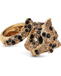 Roberto Cavalli | Black Embellished Panther Ring - For Women | Lyst
