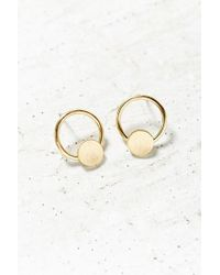 Urban Outfitters | Metallic Door Knocker Post Earring | Lyst