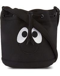 Mini Cream - Black Smiley Bucket Bag - Lyst