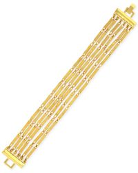 Vince Camuto | Metallic Gold-Tone Six-Row Chain Bracelet | Lyst