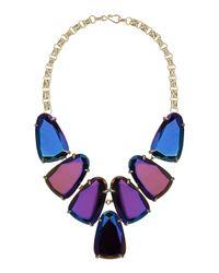Kendra Scott - Purple Harlow Black Iridescent Statement Necklace for Men - Lyst