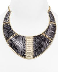 "ABS By Allen Schwartz - Metallic Call Of The Wild Snake Collar Necklace, 16"" - Lyst"