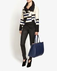 Yigal Azrouël - Natural Elongated Striped Jacket - Lyst