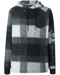 Astrid Andersen - Gray Checked Hoodie for Men - Lyst